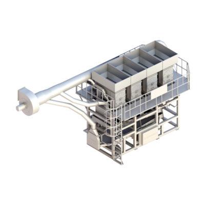 Оборудование для отделения скорлупы от ядер арахиса