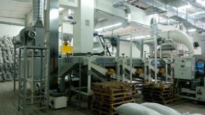 Линия по шелушению семян подсолнечника 1 тонна в час