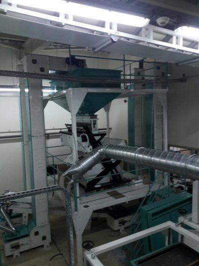 Линия по очистке рапса и шелушению семян подсолнечника 3.5 тонны в час (Болгария)