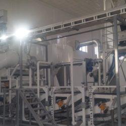 Линия очистки и шелушения семян подсолнечника 1 тонна в час