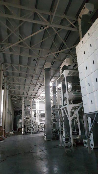Линия по очистке и шелушению семян подсолнечника до 4 тонн в час (Болгария)